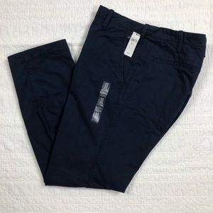 Men's Gap Navy Blue Straight Stretch Khaki Pants